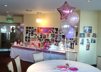 Birthday party packages helium birthday balloons for 50th birthday decoration packages